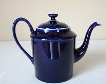 Porcelain French Vintage Teapot Navy Blue French Vintage Porcelain Limoges