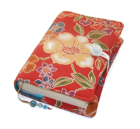 Fabric Book Covers Uk ~ Fabric book cover handmade bible sleeve vintage kimono silk