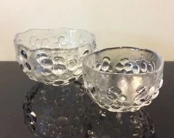 Kosta Boda Sweden Grape Serving Bowls designed by Ann Warff