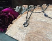 Magic Circle - organic textured sterling silver necklace