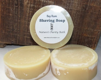Bay Rum Scented Round Shaving Shave Puck Soap