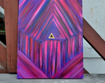 Meditation Art - 16 x 20 Release of the Shadows -  Acrylic Painting on Canvas