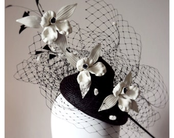 Justine Bradley-Hill Princess straw and leather headpiece
