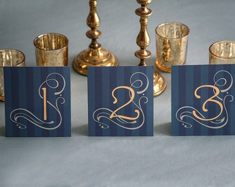 "Printable DIY Table Numbers ""Art Nouveau"""