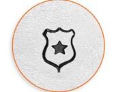 6mm Police Badge Metal Stamp, ImpressArt Law Enforcement Design Stamp, Impress Art Stamps, Use w/ Texture Stamper, DIY Jewelry, Stamping