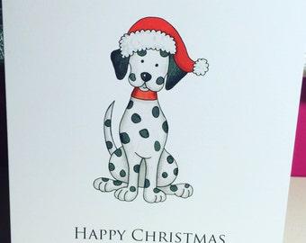 Dalmatian Christmas Card Pack of 10
