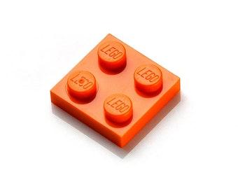 Orange LEGO (R)  Lapel Pin - Tie Tack - Valentine's Gift - Handmade - Gift Box Included