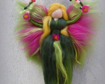 Silvy - Felted angel - needle felted and waldorf inspried