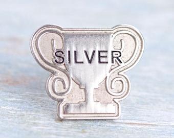 Silver Tropy pin Badge
