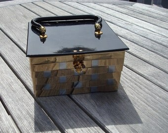 Metallic box purse