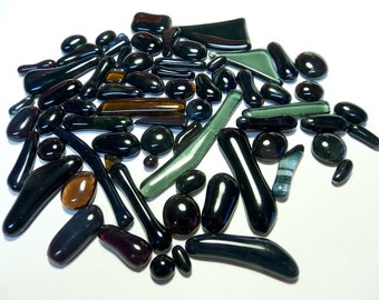 Kiln Formed Multicolor Glass Mix 65 pieces (971)