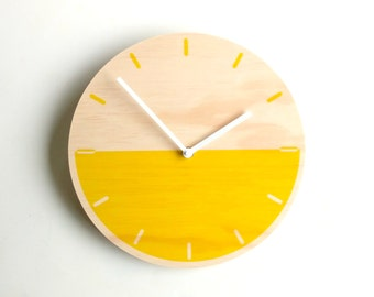Objectify Demi Yellow with Markers Wall Clock - Medium Size