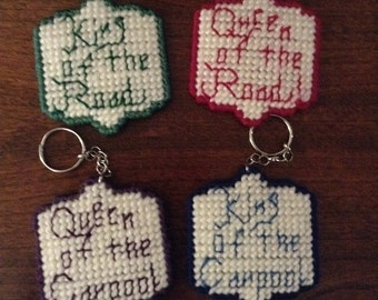 King or Queen keychains