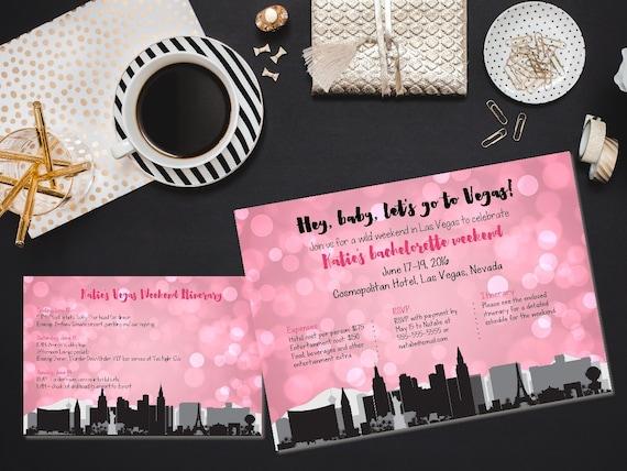 Printable Vegas bachelorette invitation Vegas bachelorette party – Bachelorette Party Weekend Invitations