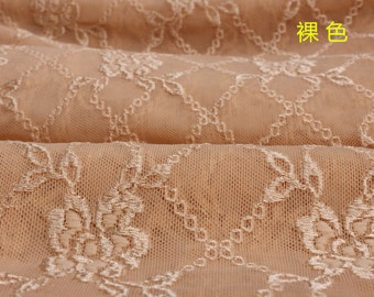 160cm width korean made vintage flower chain pattern lace fabric one yard for diy  wedding bride dress decoration
