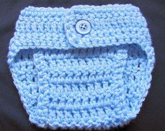 newborn size diaper cover in blues
