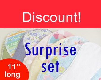 Discount on sets of pantyliners 11'' - Surprise sets - Washable - Reusable
