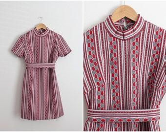 60s Mod Dress / Mod mini dress/ Shift Dress/ Size Small