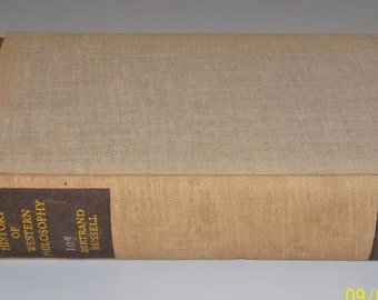 History of Western Philosophy by Bertrand Russell. Rare Historic Copy from British Council Jerusalem Palestine, 1946.