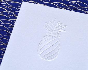 White Pineapple   |   Letterpress Notecard