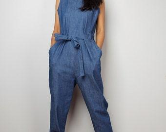 Denim Jumpsuit / Denim Jumper / Jumpsuit- Long Pants : The Denim Collection No.1