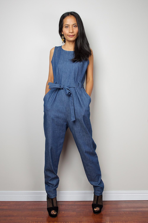 creative denim jumper shorts outfit 11