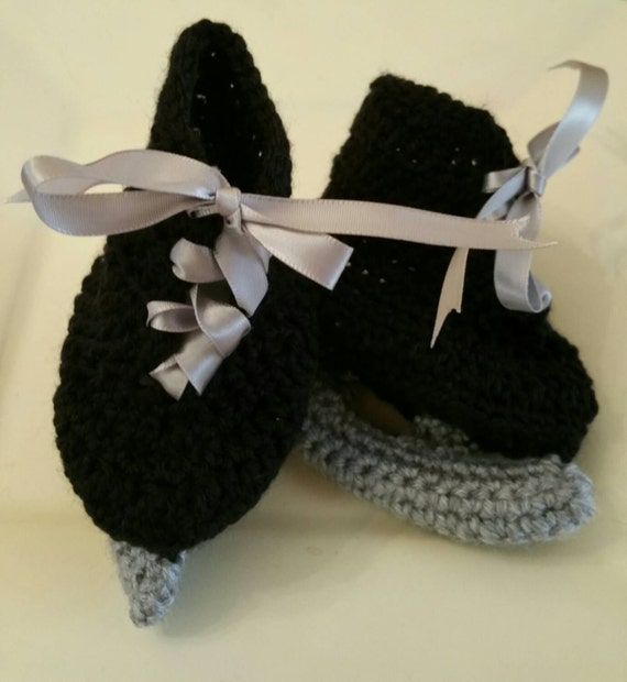 Crocheted Ice Skates Booties