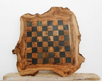 20-Inch Rustic Wooden Chess Board Set, Engraved Chess Set Board Game, Dad gift, Boyfriend Gift, Birthday Gift