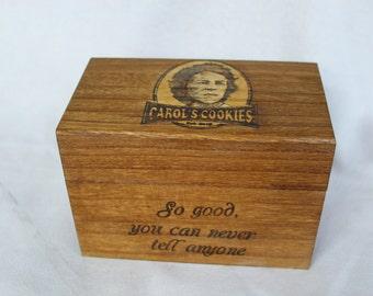 Carol's Cookies Walking Dead Recipe Box