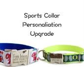 Personalization Upgrade, Add-On Upgrade for Sports Team Collars