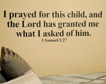 1 Samuel Bible Verse - Wall Decal