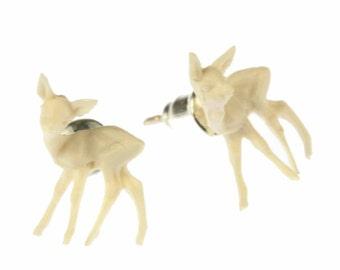 [BUNDLE] Deer Bambi studs Fawn deer white