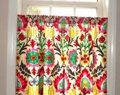 Cafe Curtain Window Treatment  Waverly Santa Maria Desert Flower Curtain Panel Half Window