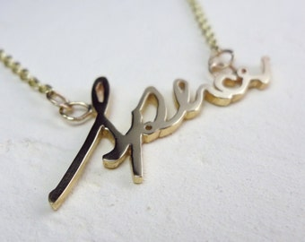 Gold Handwritten Jewelry- Gold Necklace- Personalized Gold Jewelry- Sentimental Jewelry- In Loving Memory- Gold name necklace- Handwriting