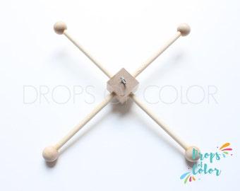 Wood Frame Mobile, DIY Mobile, Natural Wood Frame, Mobile Hanger, No Paint Wood Mobile Frame with Hook for easier hanging