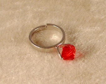Ruby Red Swarovski Crystal Ring