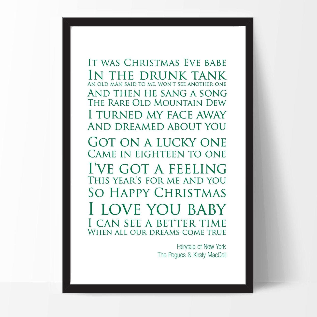 Christmas Song The Gift Lyrics: Fairytale Of New York The Pogues & Kirsty MacColl Lyrics