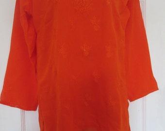 Orange  Georgette  top  size  36