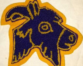 Vintage Jacket Patch Goat Wool