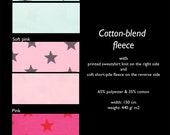 STARS cotton-blend fleece, 0.65 m