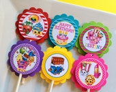 12 Shopkins Birthday Party Cupcake Toppers