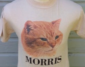 1980's Morris The Cat t-shirt, fits like a small