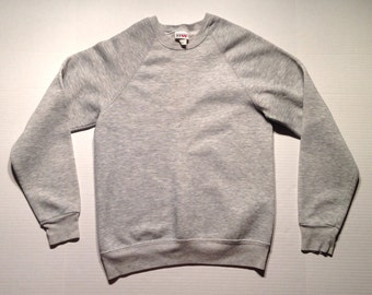 1980's triblend pullover sweatshirt, fits like a small