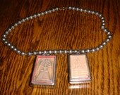 Sacred Buddha Tablet Necklace on Vintage Silver Beads Choose ONE