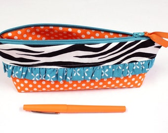 Pencil Pouch - SMALL Size - Bible Journaling - Cosmetic Case -  READY to SHIP