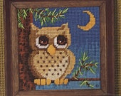 MOONLIGHT OWL Needlepoint Kit - New & Unopened