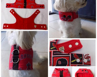 Dog Vest Harness Los Angeles Angels of Anaheim print Dog Vest Harness  for Small Breed Dogs or Cats