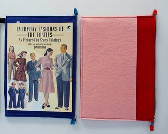 """MacBook Air 13"""" Sleeve wool case in pink and red"""