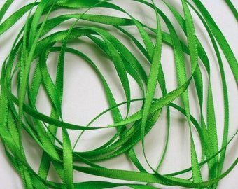 "1/8"" Double-faced Satin Ribbon - Apple Green - 10 Yards"
