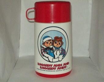 Raggedy Ann & Andy Aladdin Plastic Thermos
